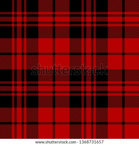Black and Red tartan plaid Scottish seamless pattern.Texture from plaid, tablecloths, clothes, shirts, dresses, paper, bedding, blankets and other textile products.