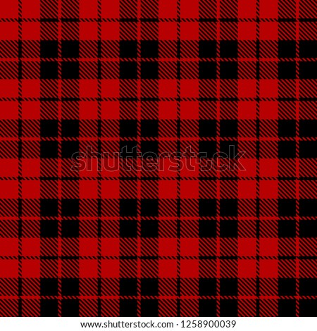 Black and red tartan plaid Scottish seamless pattern.Texture from tartan, plaid, tablecloths, clothes, shirts, dresses, paper, bedding, blankets and other textile products.