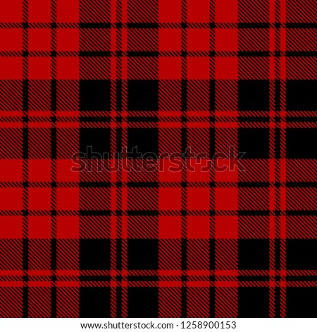 black and red tartan plaid
