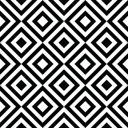 Black and white abstract rhombus seamless pattern background. Geometric shapes paneling decor. Vector 10 EPS illustration.