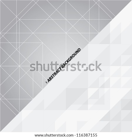 Black and white abstract vector background