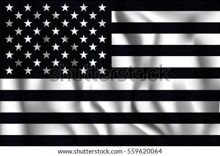 black and white american flag....