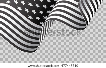 Vector American Flag Black And White At Vectorified Com