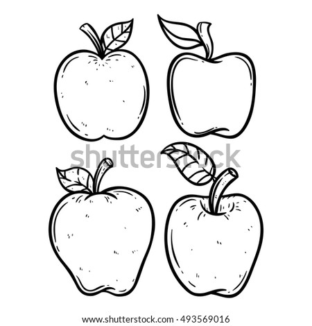 black and white apple set using