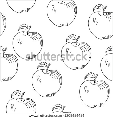 black and white apple vector