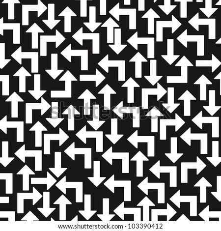 black and white arrows background. vector illustration