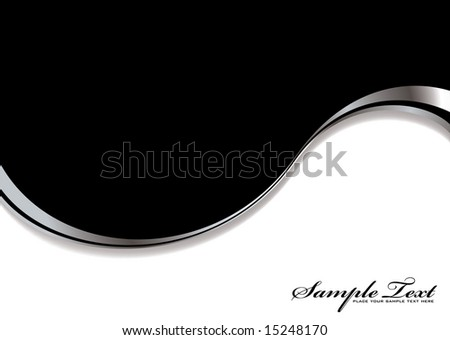 Black and white background divided into two with silver bevel
