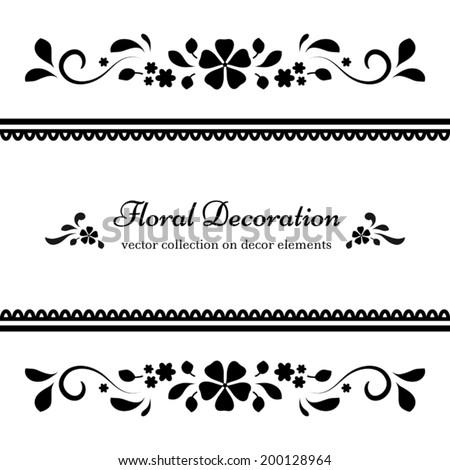 Divider on White Background Black And White Background