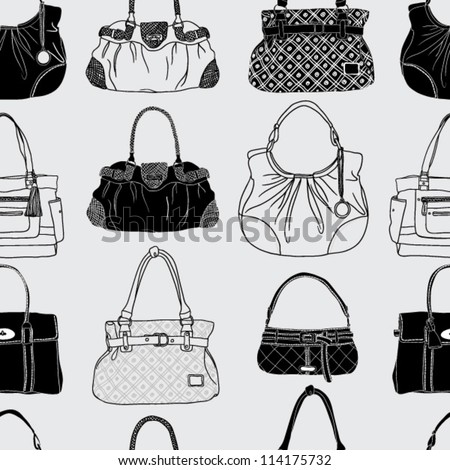 black and white bag pattern