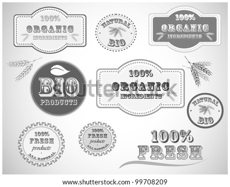 Black And White Bio Product Badges