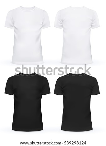 black and white blank t shirt