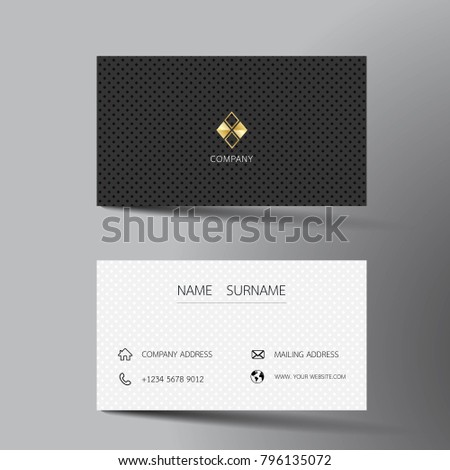 Two sided business card vector design download free vector art black and white business card template design with inspiration from the abstract contact card wajeb Choice Image