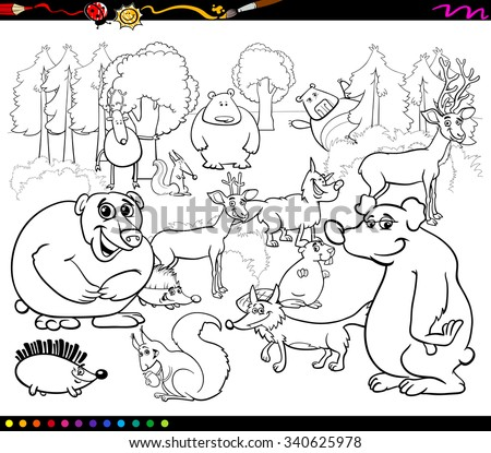 Coloring Book Or Page Cartoon Vector Illustration Of Black And White