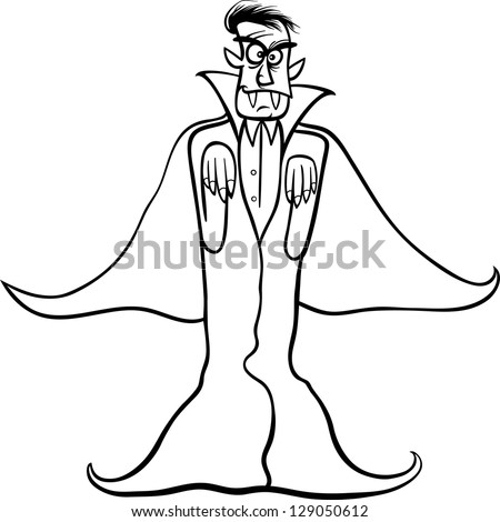 ... Vector Illustration of Scary Count Dracula Vampire for Coloring Book