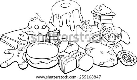 black and white cartoon vector