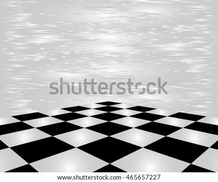 Black and white checkerboard in perspective on a white background.  #465657227