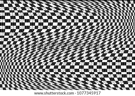 Black and white checkered halftone pattern.Vector illustration with dots. Modern dotted background.Template for web sites, sticker labels,posters, banners, corporate identity, cover design