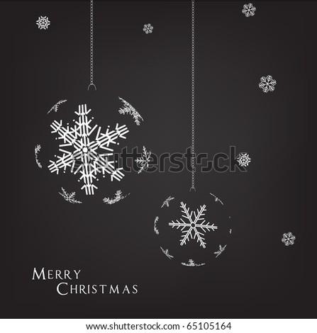 Black and White Christmas illustration