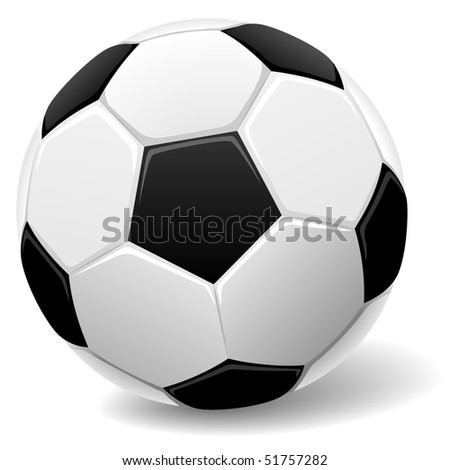 Black and white classic soccer ball vector illustration.