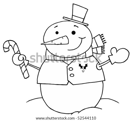 pattern Snowman+outline