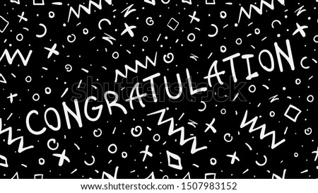 Black and white congratulation greeting card