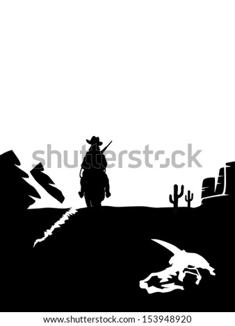 black and white cowboy on a