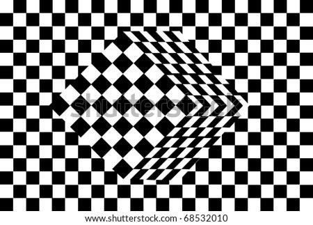 black and white cube optical