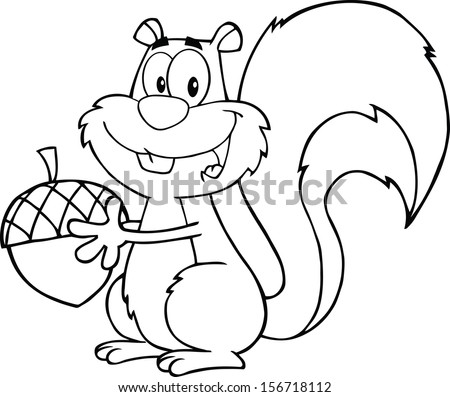 black and white cute squirrel