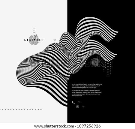 black and white design pattern