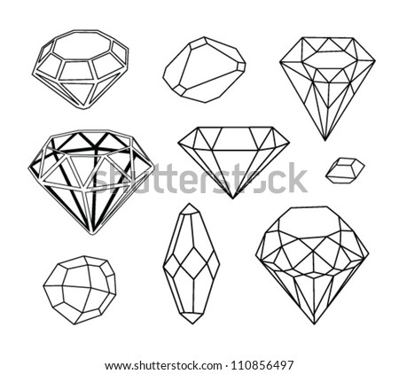 Black and white diamonds. Geometric background with linear diamonds.