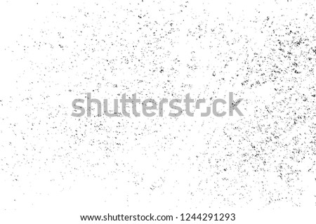 Black And White Distressed Grunge Vector Overlay Template. Dark Paint Weathered Texture. Abstract Dirty Creative Design Backdrop Element  #1244291293