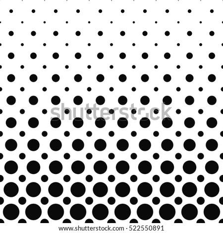 Black and white dot pattern design background