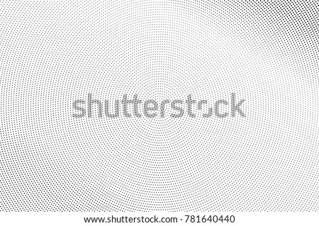 Black and white dotted halftone. Half tone vector background. Subtle light dotted gradient. Abstract monochrome template. Black ink dots on transparent backdrop. Pop art retro design