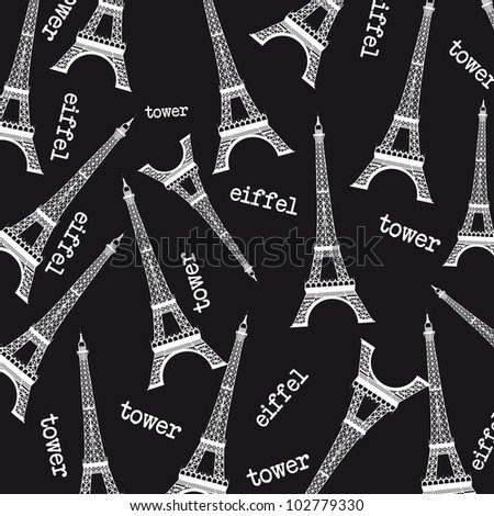 Eiffel Tower Black And White Background Black And White Eiffel Tower