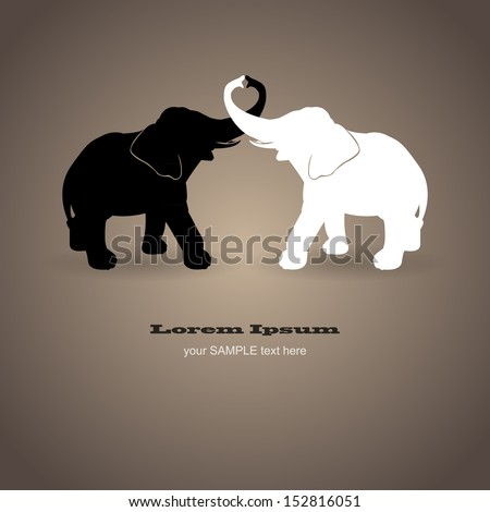 black and white elephants in