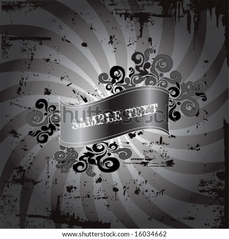 stock vector : Black and white emo grunge design