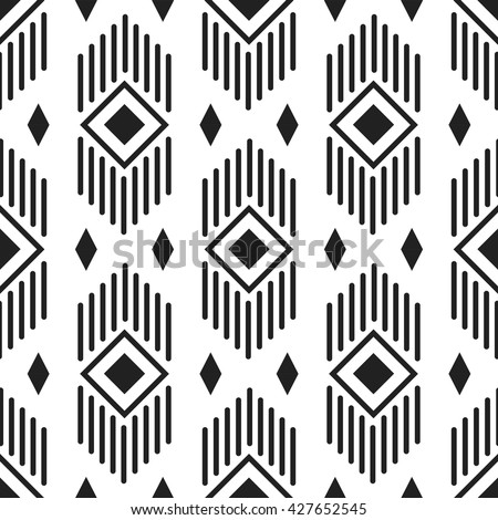 stock-vector-black-and-white-ethnic-geometric-lines-and-rhombuses-seamless-pattern-monochrome-abstract-geometry