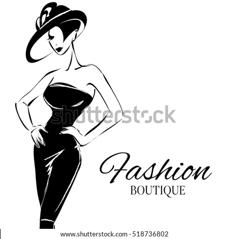 black and white fashion woman