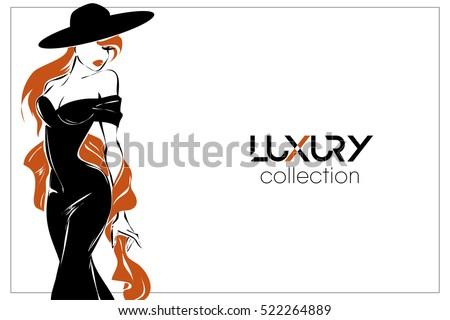 black and white fashion woman