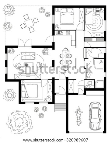 black and white floor plan of a