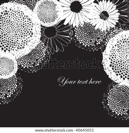 black and white flowers. hot Black and White Hippies