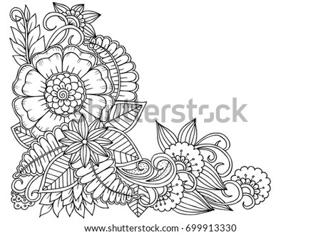 black and white flower corner