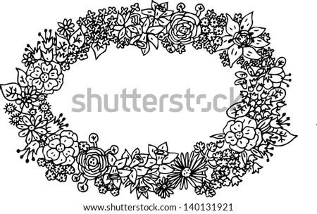 Flower Frame Black And White Black And White Flower Frame