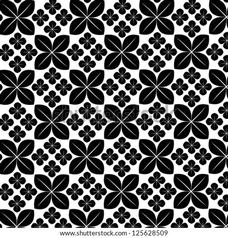 Black And White Flower Print Background Black And White Zebra Print