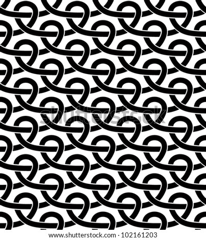 Black and white geometric seamless pattern with netting lines. Vector background single color and single shape.