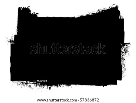 Black and white grunge ink splat banner concept with copyspace