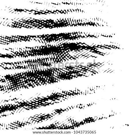 Black and white grunge stripe line vector background. Abstract halftone illustration background. Grunge grid background pattern  #1043735065