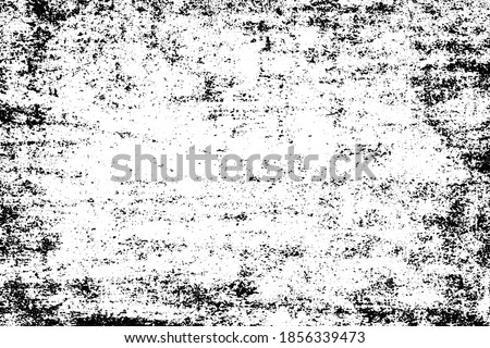 Black and white grunge texture. Pattern of an old worn surface. Monochrome pattern of scratches and scuffs Foto stock ©
