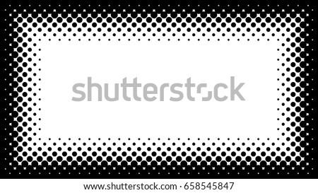 black and white halftone frame