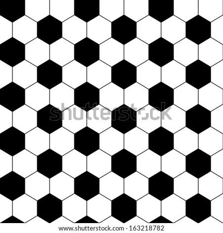 black and white hexagon soccer
